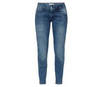 Slim Fit Jeans mit Message-Stickereien