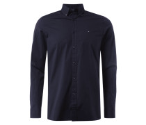 Slim Fit Freizeithemd mit Button-Down-Kragen