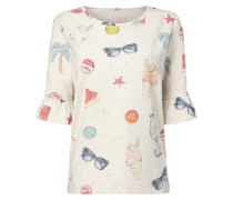 Sweatshirt mit Allover-Muster und Effektgarn