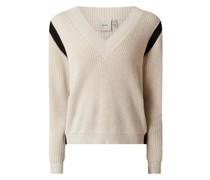 Pullover mit Kontraststeifen Modell 'Sally'