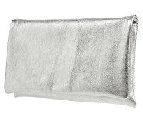 Clutch aus Leder in Metallicoptik