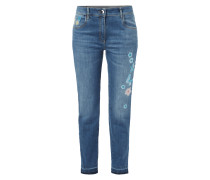 Stone Washed Comfort Fit Jeans