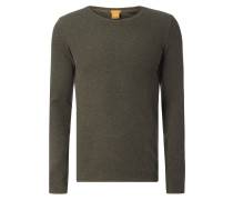 Slim Fit Longsleeve mit Webstruktur