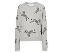 Sweatshirt mit eingestickten Zebras