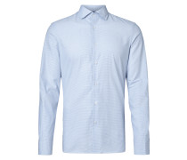Regular Fit Business-Hemd mit Hahnentrittmuster