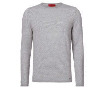 Loose Fit Pullover mit eingestricktem Muster