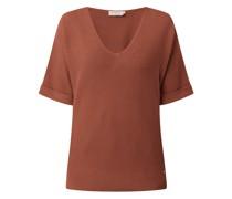 Pullover mit kurzen Ärmeln Modell 'Sillar'