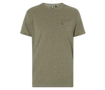 T-Shirt in Melangeoptik
