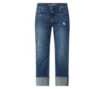 Cropped Straight Fit Jeans mit Stretch-Anteil Modell 'Filippa'