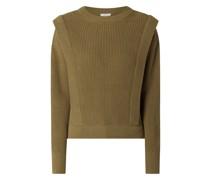 Pullover aus Baumwolle mit Zierleisten