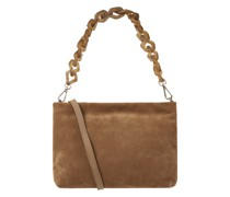 Crossbody Bag aus Veloursleder Modell 'Brenda'