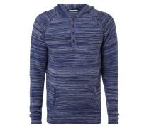 Pullover mit Kapuze und Knopfleiste