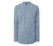 Slim Fit Business-Hemd aus Natté - 'Futureflex'