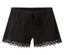 Shorts mit perforiertem Muster