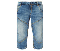 Stone Washed Regular Fit Jeansbermudas