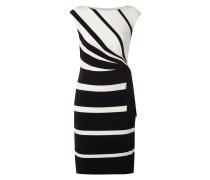 Kleid mit Streifenmuster und Schnürung