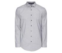 Slim Fit Business-Hemd mit Glencheck