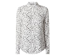 Bluse mit Herzchen-Prints Modell 'Marisa'