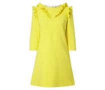 Kleid in A-Linie mit Rüschenbesatz