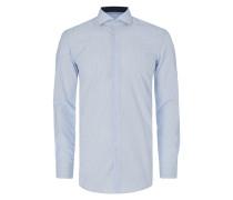 Slim Fit Business-Hemd mit feinen Streifen