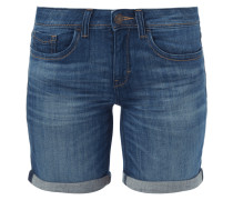 Stone Washed Slim Fit Jeansbermudas