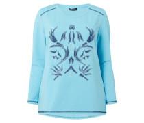 PLUS SIZE - Sweatshirt mit floralen Aufnähern