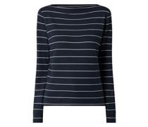 Sweatshirt mit U-Boot-Ausschnitt