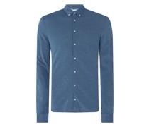 Regular Fit Business-Hemd aus Piqué - 'Futureflex'