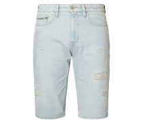 Slim Fit Jeansbermudas im Destroyed Look