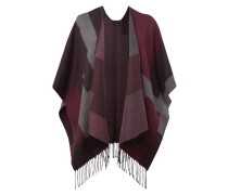 Poncho mit Allover-Muster