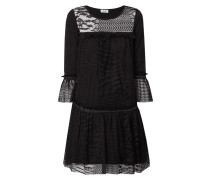 Kleid aus Spitze mit Rüschen und Nieten