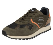 Sneaker aus Leder und Textil Modell 'Dixon'