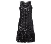 Kleid aus Mesh mit eingestickten Pailletten