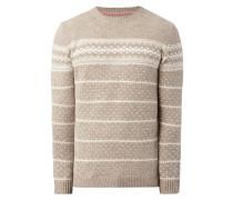 Pullover aus Wollmischung mit Intarsien