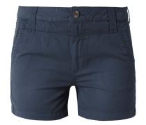 Shorts mit geknöpften Paspeltaschen