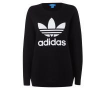 Sweatshirt aus reiner Wolle mit Logo-Print