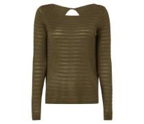 Pullover mit eingearbeitetem Streifenmuster