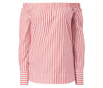 Off Shoulder Blusenshirt mit Streifen