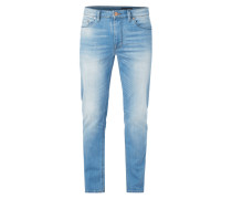 Stone Washed Shaped Fit Jeans