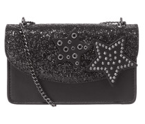 FALL IN LOVE - Crossbody Bag mit Glitter-Effekt und Ziersteinen