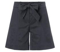 Shorts mit Taillengürtel und Bügelfalten