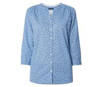 Bluse mit ornamentalem Muster