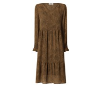 Kleid mit grafischem Muster Modell 'Ophelie'