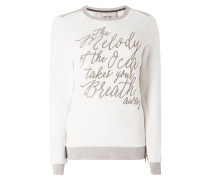 Sweatshirt mit Vorderseite und Ärmeln aus Nicki