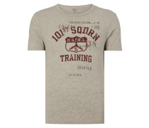 T-Shirt mit Print - meliert