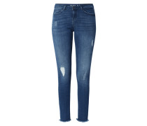Skinny Fit Jeans mit Stretch-Anteil Modell 'Lucy'