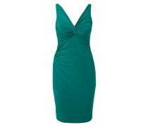 Kleid mit V-Ausschnitt und Knoten-Detail