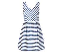 Kleid mit schimmerndem Streifenmuster