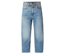 Relaxed Fit Jeans mit Gürtel