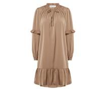 Kleid mit Volantsaum